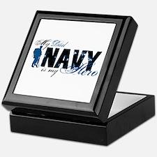 Dad Hero3 - Navy Keepsake Box