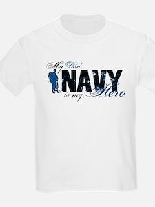 Dad Hero3 - Navy T-Shirt