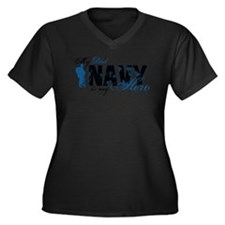 Dad Hero3 - Navy Women's Plus Size V-Neck Dark T-S