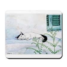 Sleeping Cat Mousepad