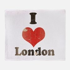 Vintage I Heart London Throw Blanket