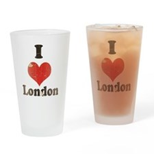 Vintage I Heart London Drinking Glass