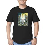 Darkness To Light Men's Fitted T-Shirt (dark)
