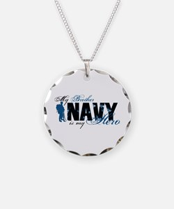 Bro Hero3 - Navy Necklace Circle Charm