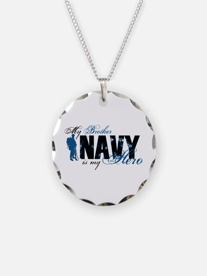 Bro Hero3 - Navy Necklace Circle Charm