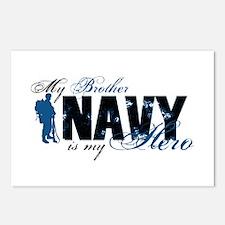 Bro Hero3 - Navy Postcards (Package of 8)