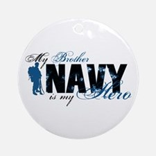 Bro Hero3 - Navy Ornament (Round)