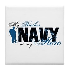 Bro Hero3 - Navy Tile Coaster