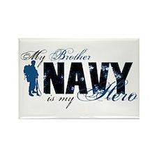 Bro Hero3 - Navy Rectangle Magnet