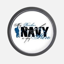 Bro Hero3 - Navy Wall Clock