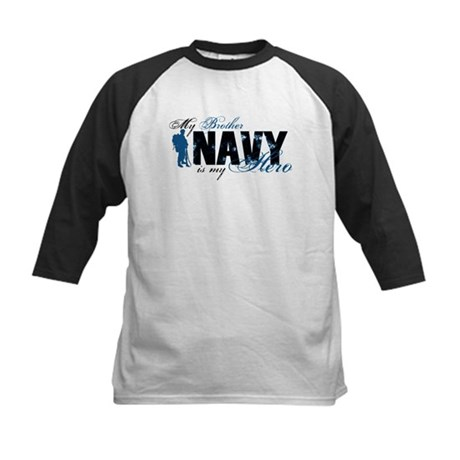 Bro Hero3 - Navy Kids Baseball Jersey