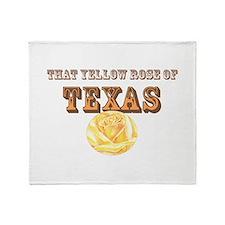 yellow rose of TEXAS Throw Blanket