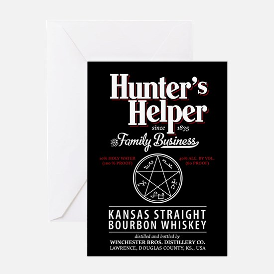 Hunter's Helper - black Greeting Card