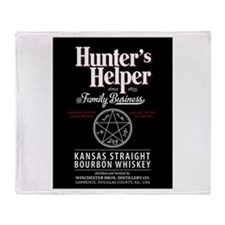 Hunter's Helper - black Throw Blanket