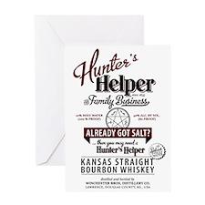 Hunter's Helper - White (1) Greeting Card