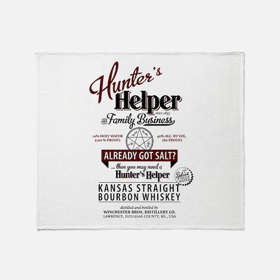 Hunter's Helper - White (1) Throw Blanket