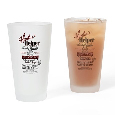 Hunter's Helper - White (1) Drinking Glass