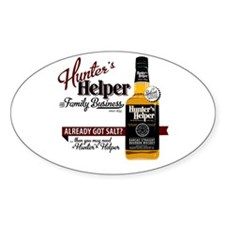 Hunter's Helper - White (2) Bumper Stickers
