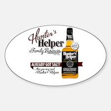 Hunter's Helper - White (2) Sticker (Oval)