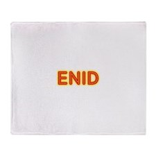 Enid in Movie Lights Throw Blanket