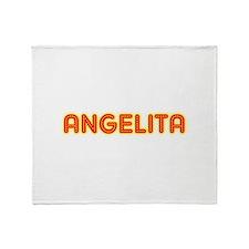 Angelita in Movie Lights Throw Blanket