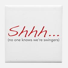 Shhh... Tile Coaster