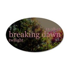 Twilight Breaking Dawn Sun 11 22x14 Oval Wall Peel
