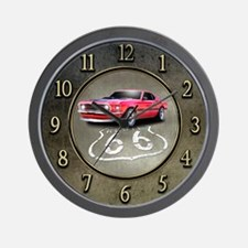 Route 66 Mustang Wall Clock