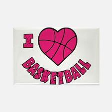 I Love Basketball Rectangle Magnet