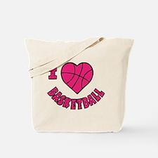 I Love Basketball Tote Bag (2-sided)