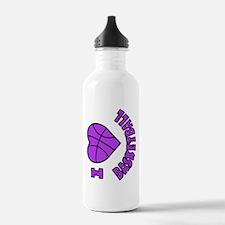 I Love Basketball Water Bottle