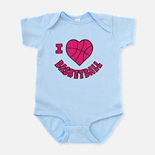 I Love Basketball Infant Bodysuit