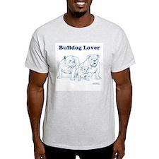 Bulldog Lover Blue/Ash Gray T-Shirt