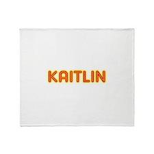 Kaitlin in Movie Lights Throw Blanket