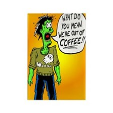 Funny Coffee Zombie Rectangle Magnet