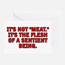 It's not meat Greeting Card
