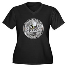 Seabees Construction Electric Women's Plus Size V-
