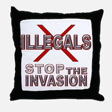 IllglsX Stop D20  Throw Pillow