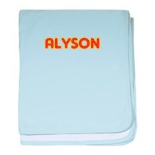 Alyson in Movie Lights baby blanket
