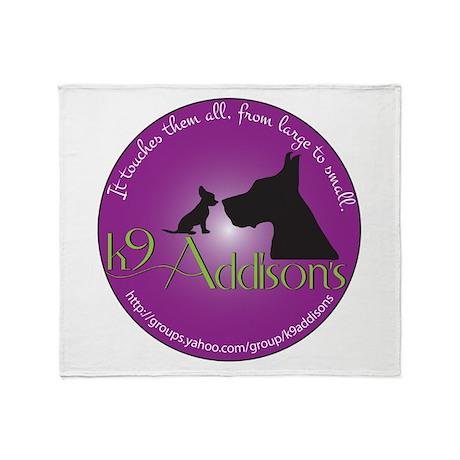 k9Addisons Logo Throw Blanket