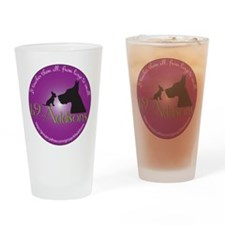 k9Addisons Logo Drinking Glass