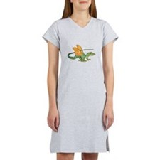 Orange Eyed Dragon Women's Nightshirt