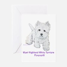 Westies Forever!! Greeting Cards (Pk of 10)