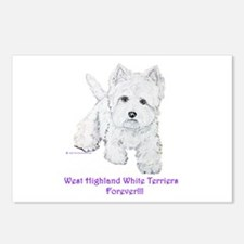 Westies Forever!! Postcards (Package of 8)