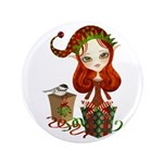 "Jollybelle Christmas Elf 3.5"" Button (100 pac"