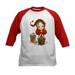 Jollybelle Christmas Elf Kids Baseball Jersey
