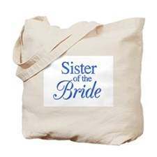 Sister of the Bride (blue) Tote Bag