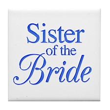 Sister of the Bride (blue) Tile Coaster