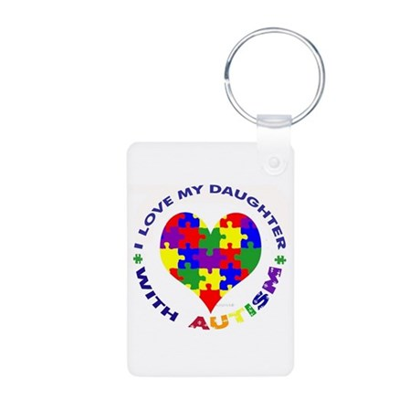 I love my DAUGHTER with Autism Photo Keyring