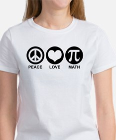Peace Love Math Women's T-Shirt